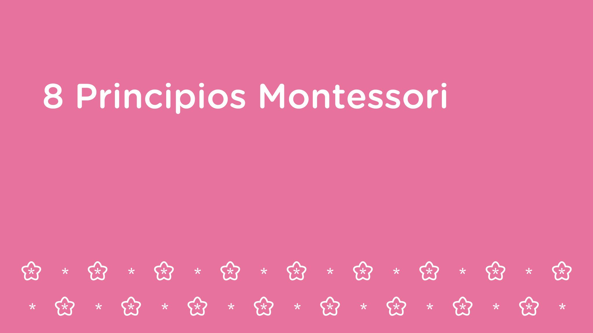 8 Principios Montessori