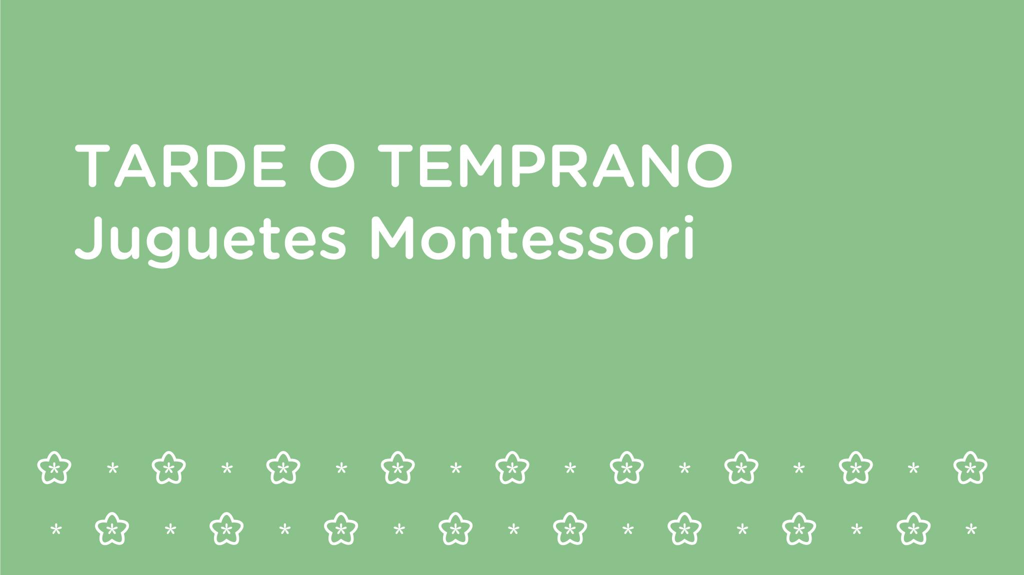 Mamón: juguetes que aplican el método Montessori