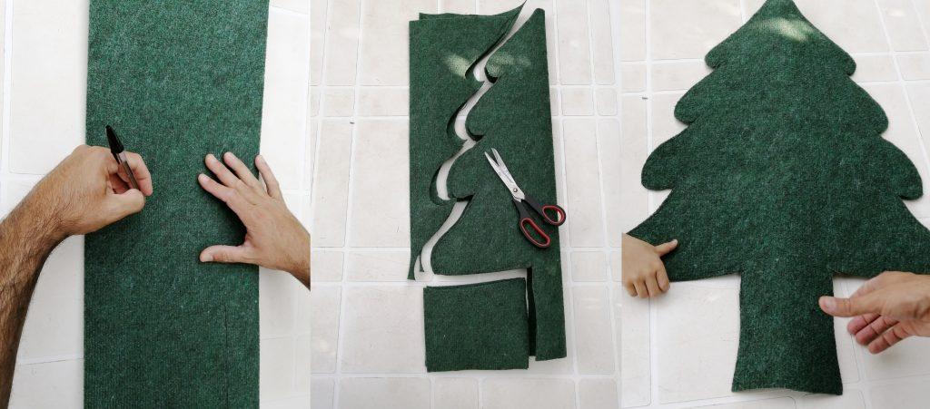Paso 1: doblar, marcar y cortar el fieltro