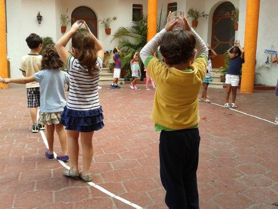 caminar sobre la línea Montessori